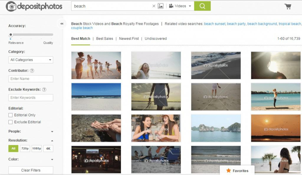 Depositphotos Search Engine