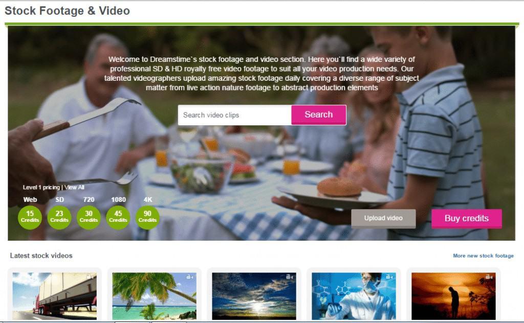 Dreamstime Footage Homepage
