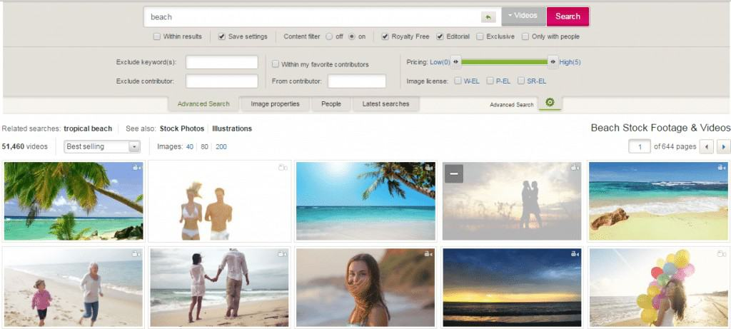 Dreamstime Footage Search