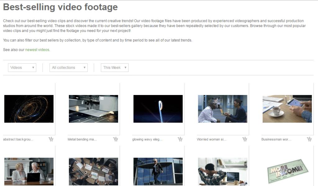 Fotolia Footage Best Selling Videos Gallery