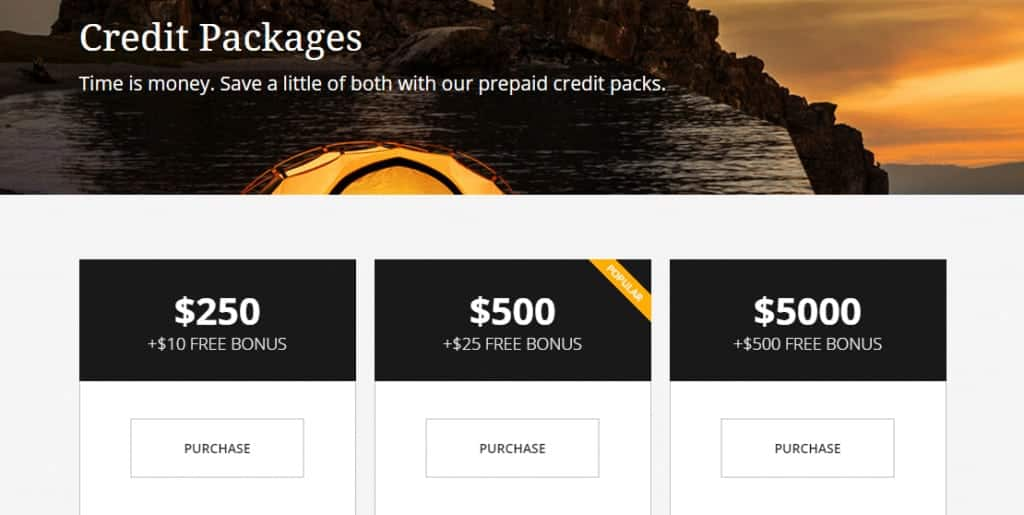 Pond5 Credit Packages