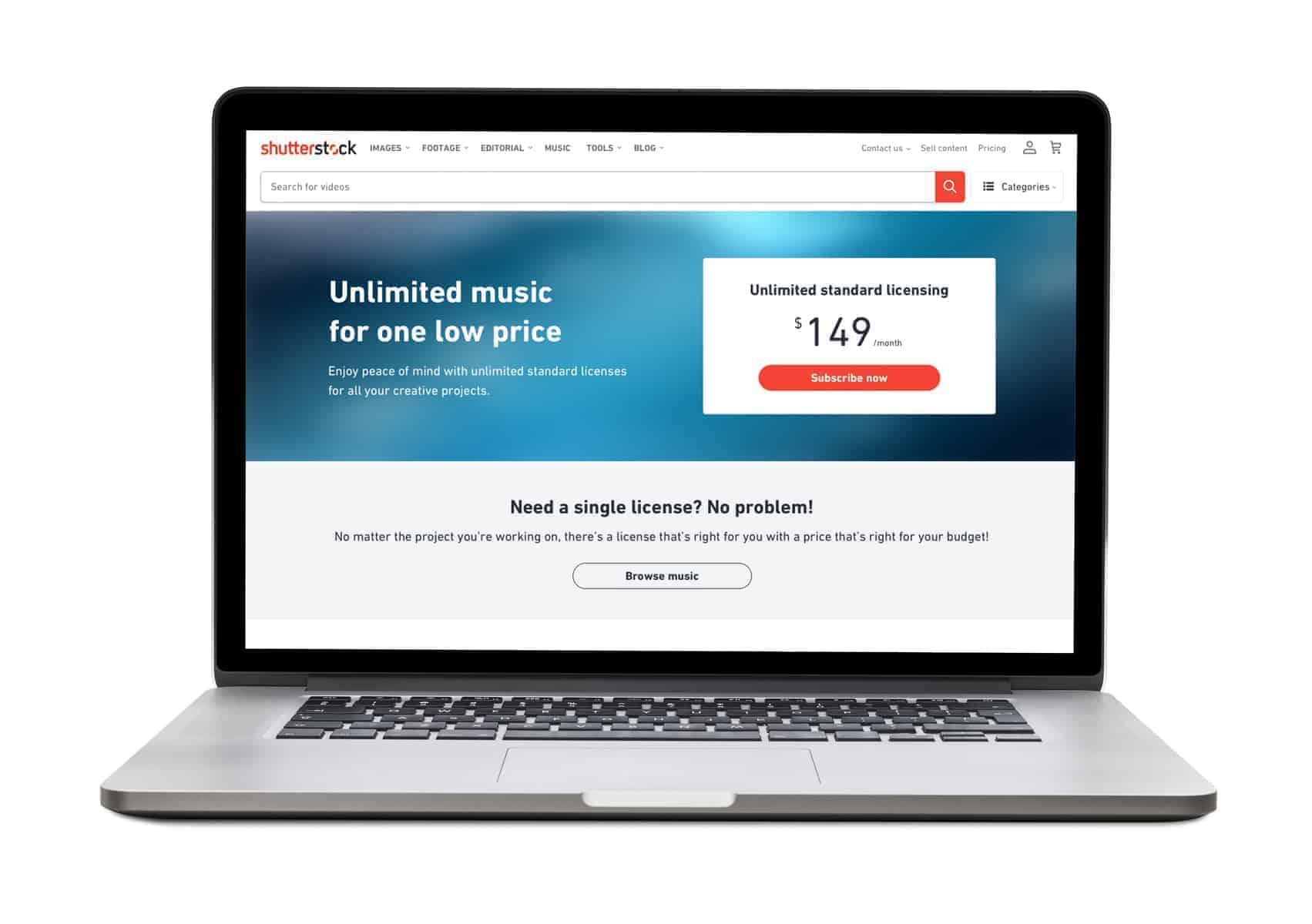 Shutterstock Music Gears Towards Digital Content Creators with Unlimited Downloads Plan 1